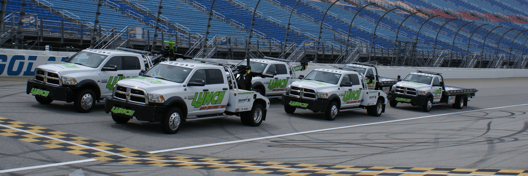 Lynch Tow Trucks on Race Track