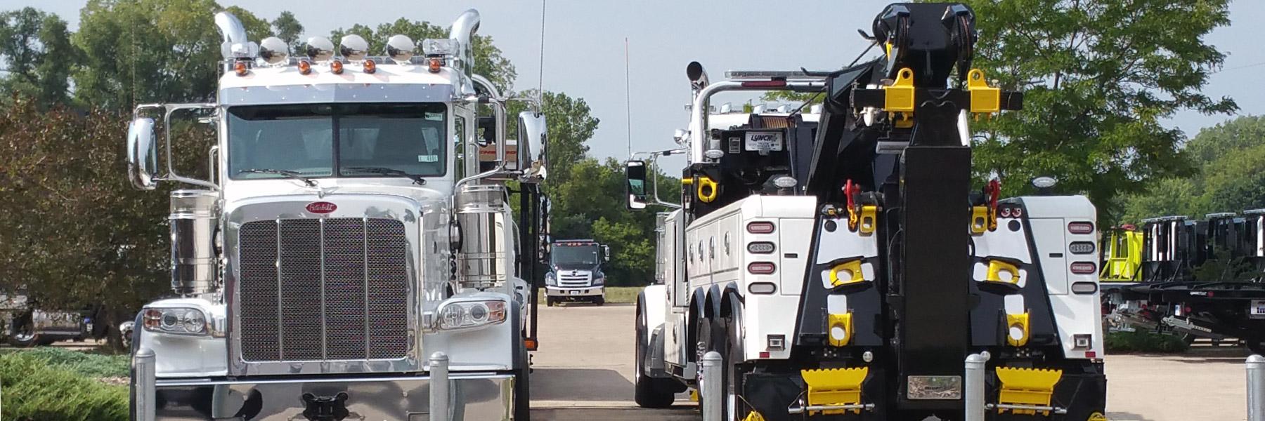 Two Heavy Duty Tow Trucks