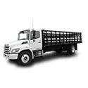 White Stake Bed Truck