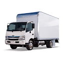 White Hino Cab Over Box Truck