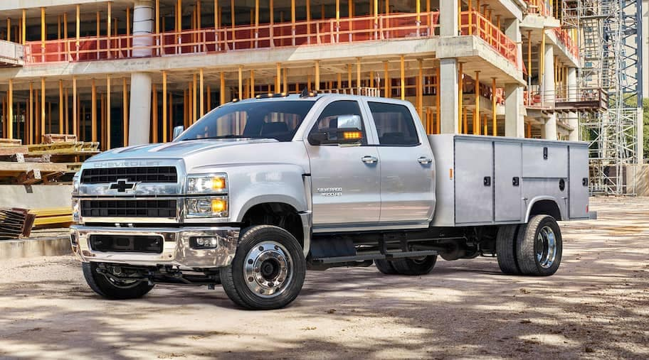 2019 Chevrolet Silverado Chassis Cab at work site