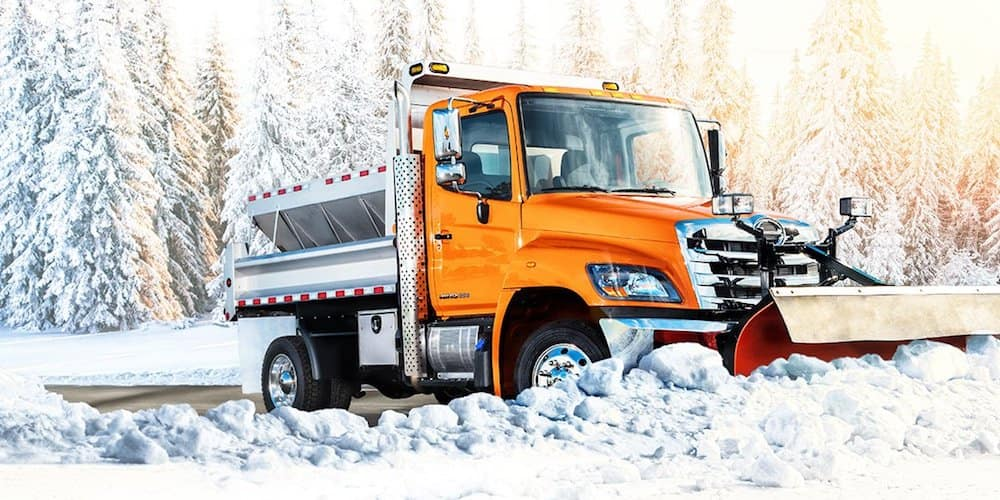 hino 258lp in snow
