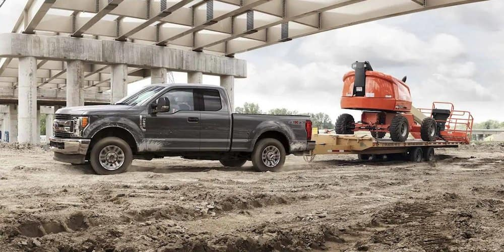 2019 Ford Super Duty Towing at Construction Site