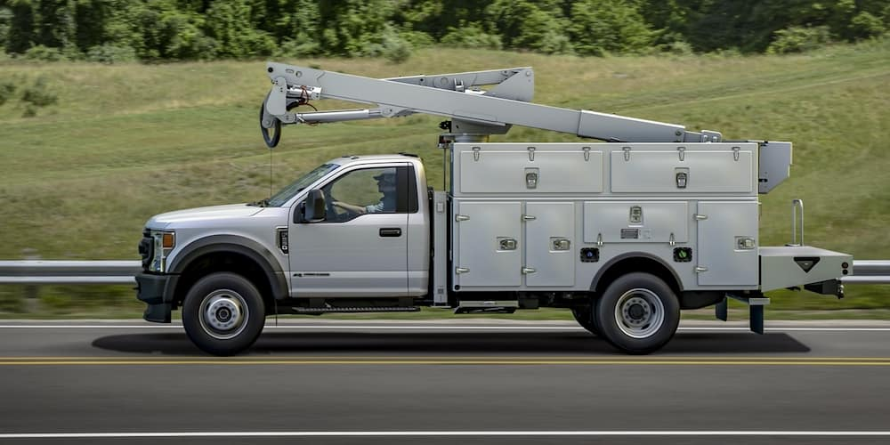 2020 Ford F-550 Chassis Cab on Highway