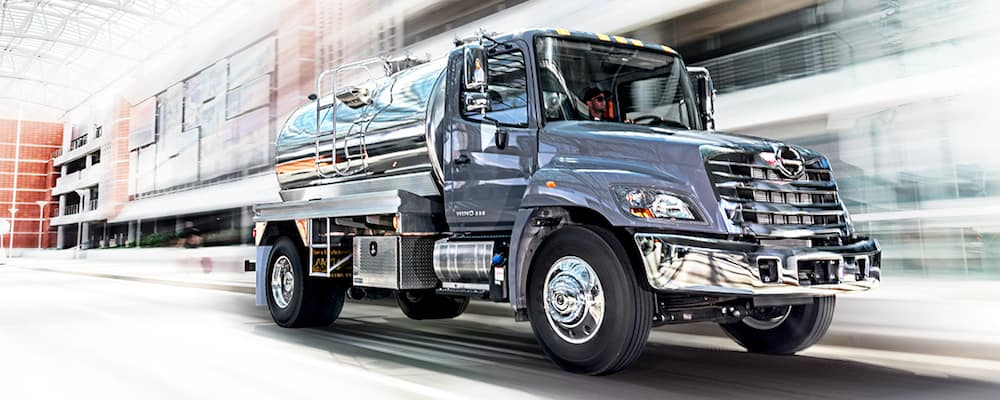 Hino 268 Truck on Road