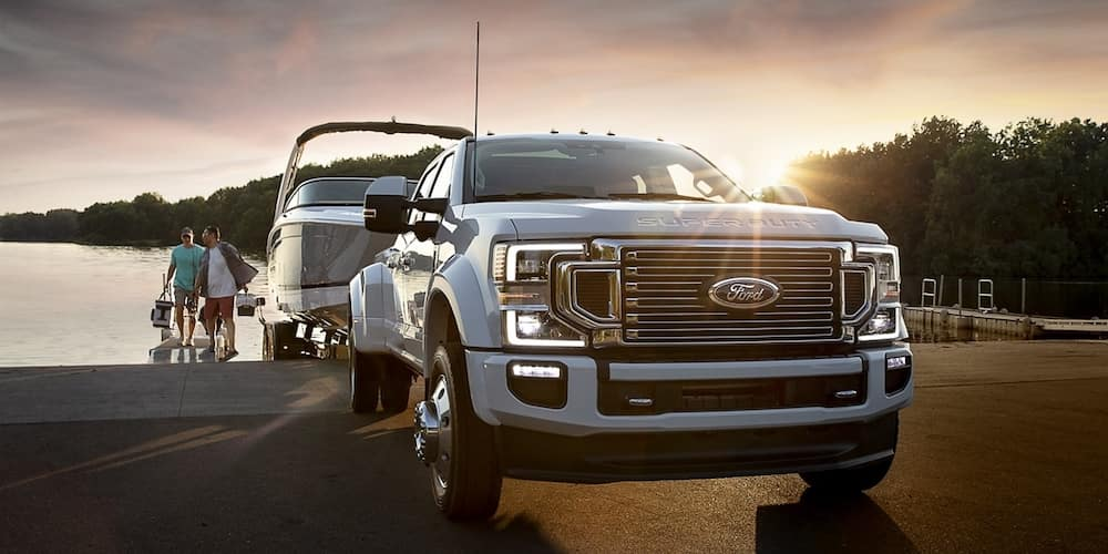 2020 Ford F-450 Towing Boat