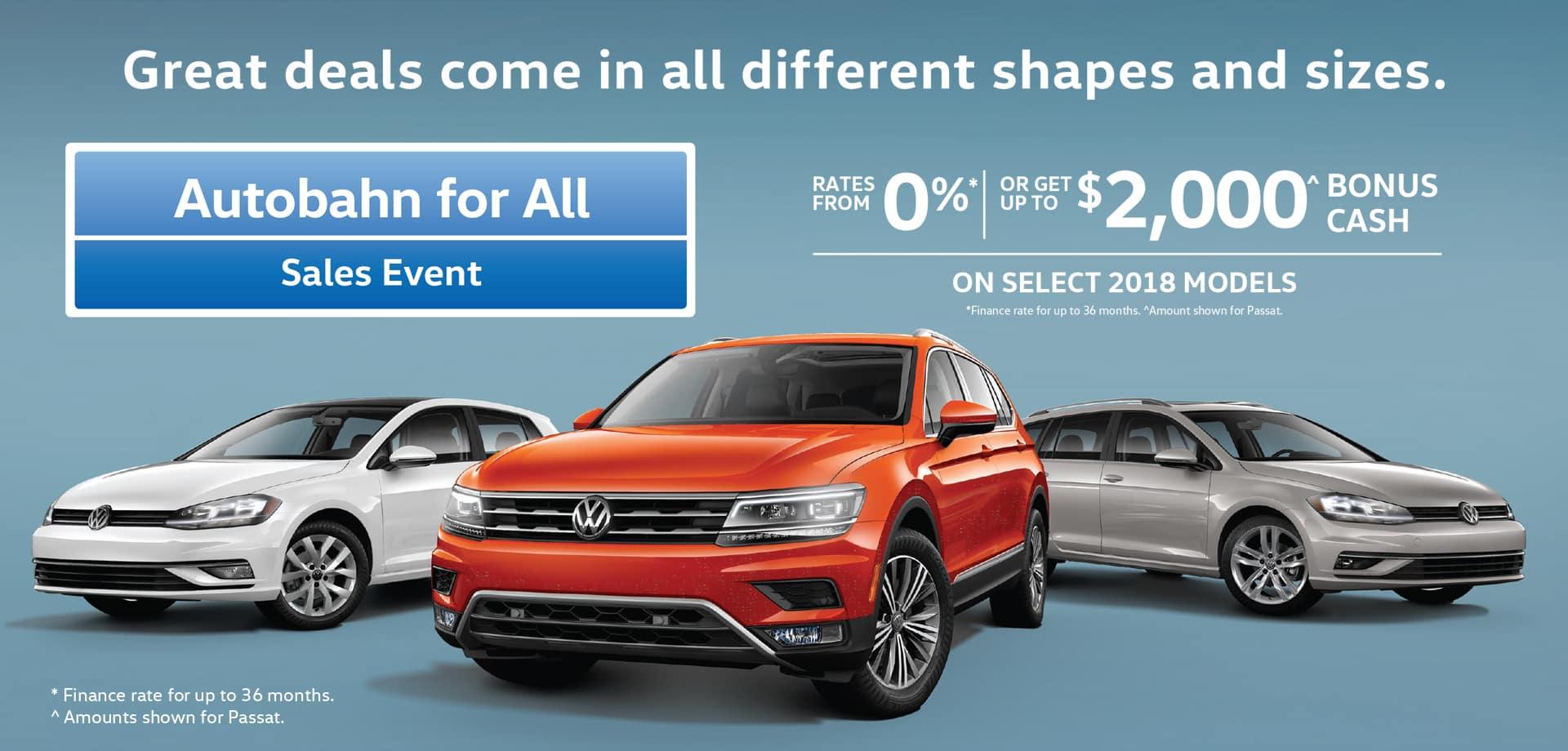 Autobahn Sale VW