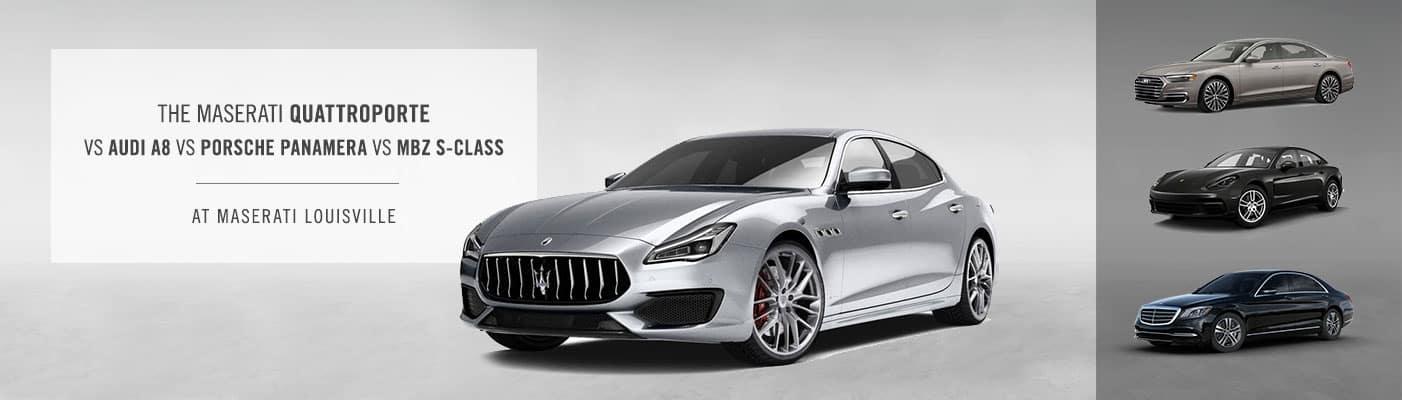 Maserati Quattroporte vs Audi A8 vs Porsche Panamera vs MBZ S-Class