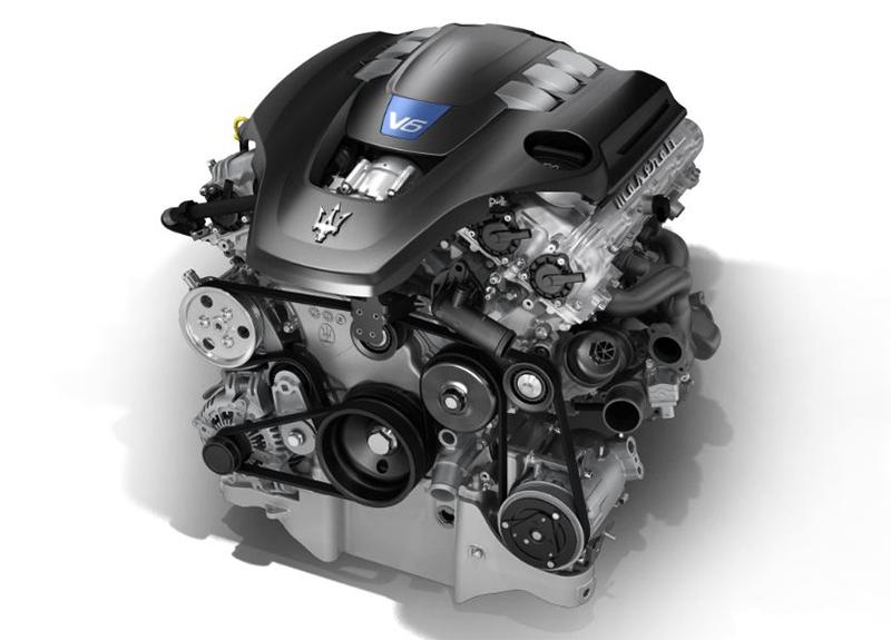 2019 Maserati Ghibli Twin-Turbo V6 Engine