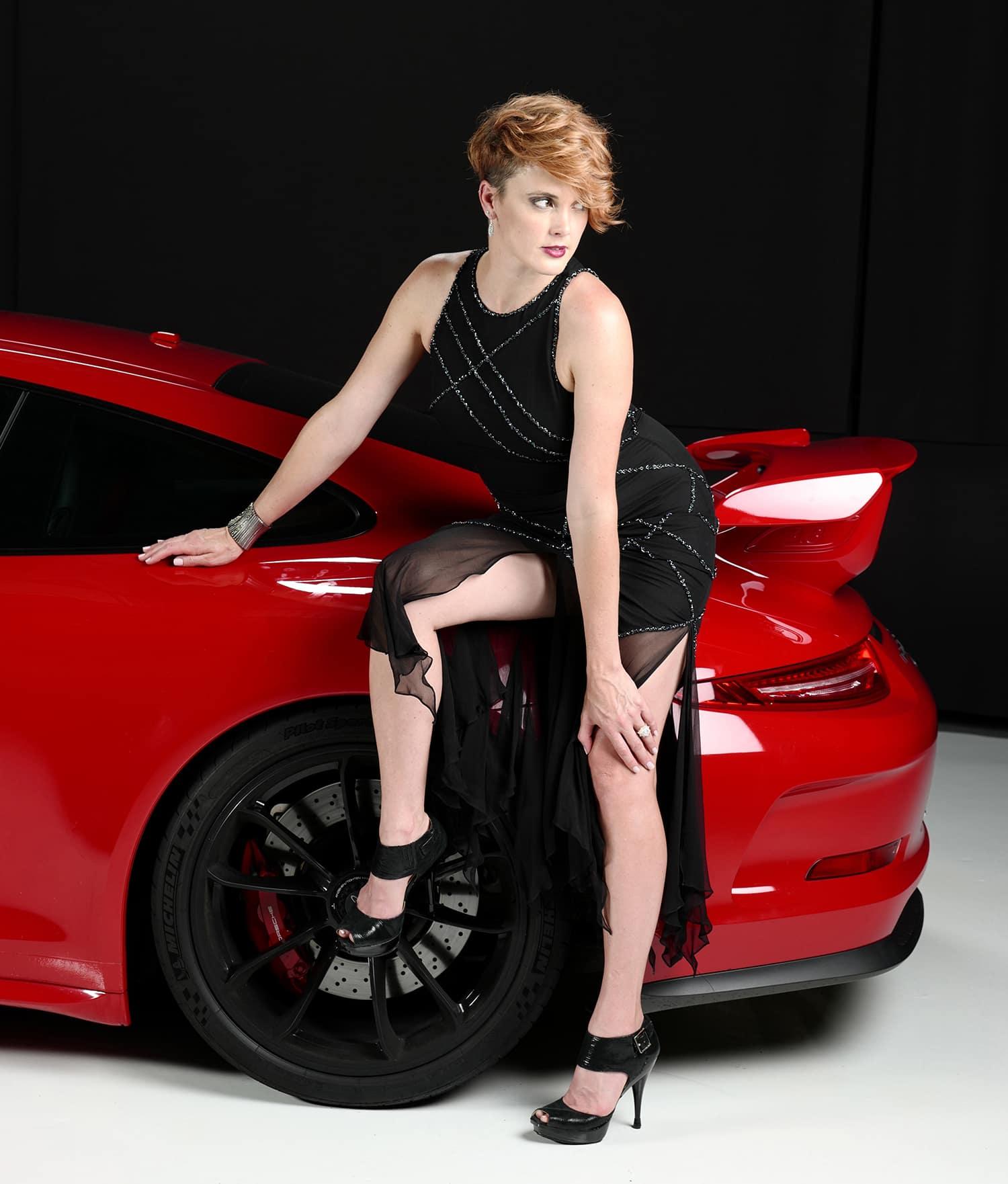 Tana with Porsche