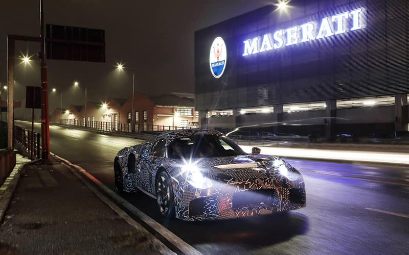 Maserati Electric Sports Car Testing