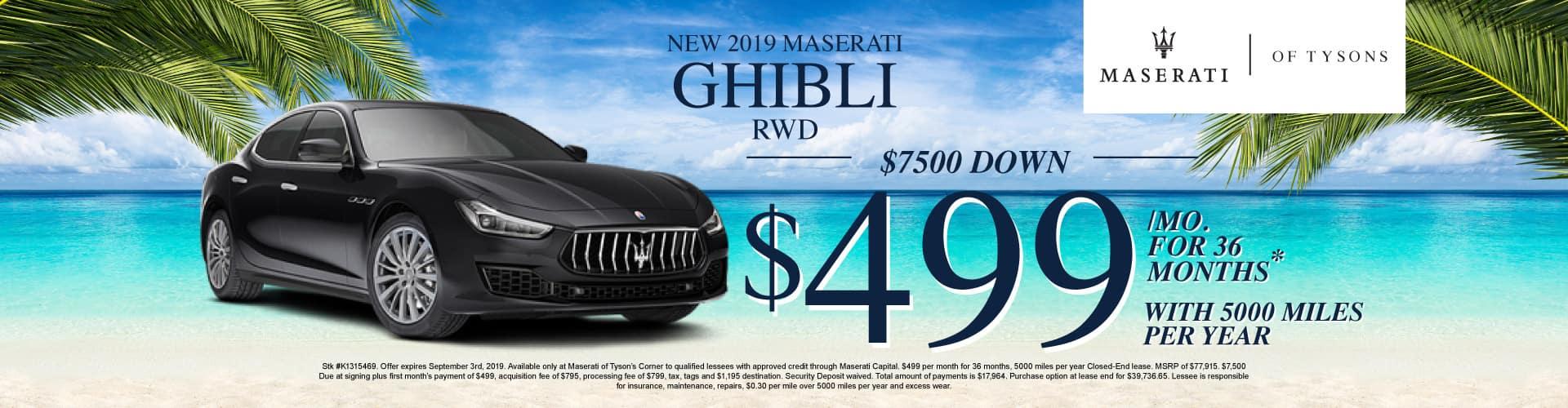 Ghibli RWD Lease Specials