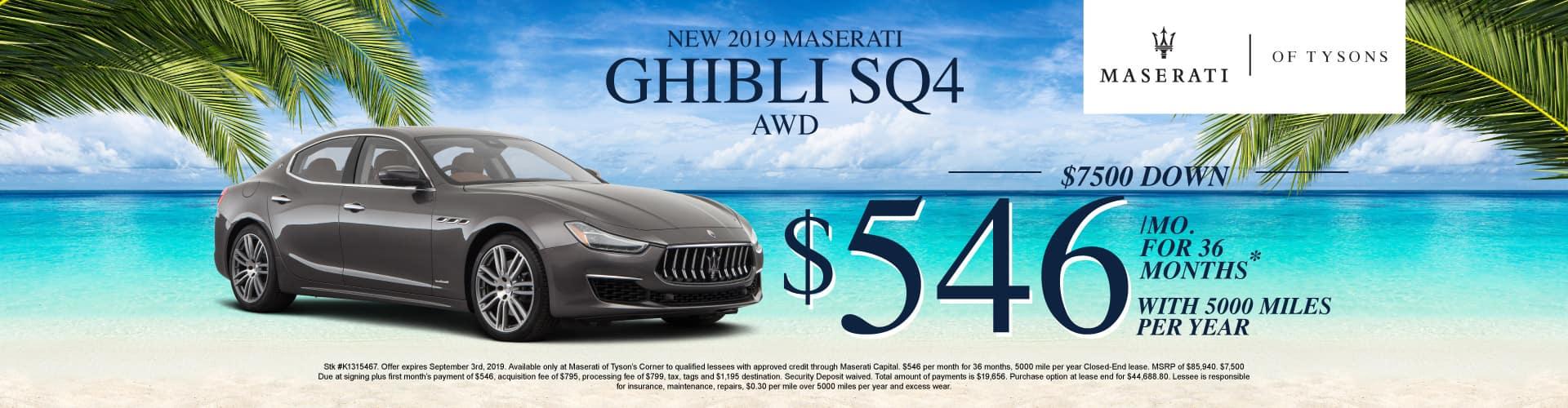 Ghibli Sq4 AWD Specials