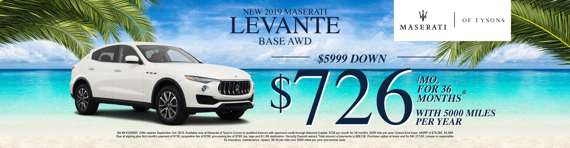Levante Base AWD Lease Specials
