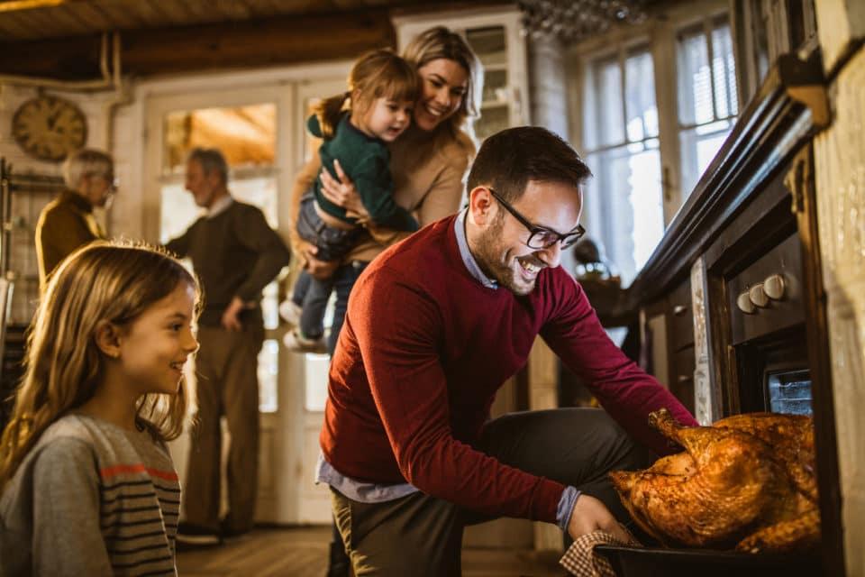 Family dinner thanksgiving