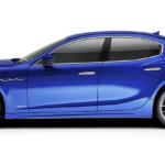 A blue 2020 Maserati Ghibli