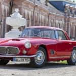 Red Italian Classic Car Maserati 3500 GT