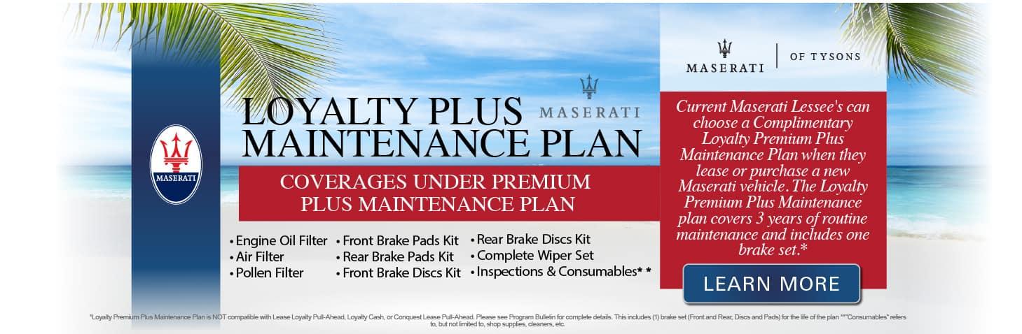 Loyalty Plus Maintenance Plan