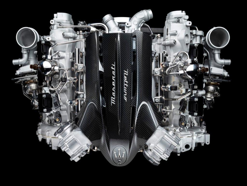 the Maserati engine of the MC20