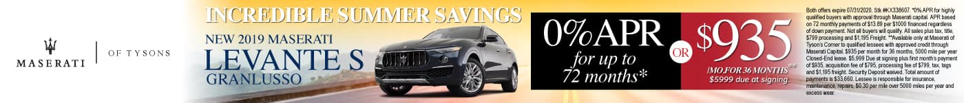 New 2019 Maserati Levante - 0% APR for up to 72 months or $935 a month for 36 months