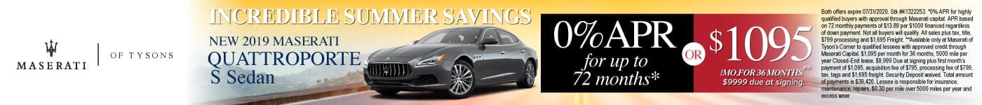 New 2019 Maserati Quattroporte - 0% APR for up to 72 months or $1095 a month for 36 months