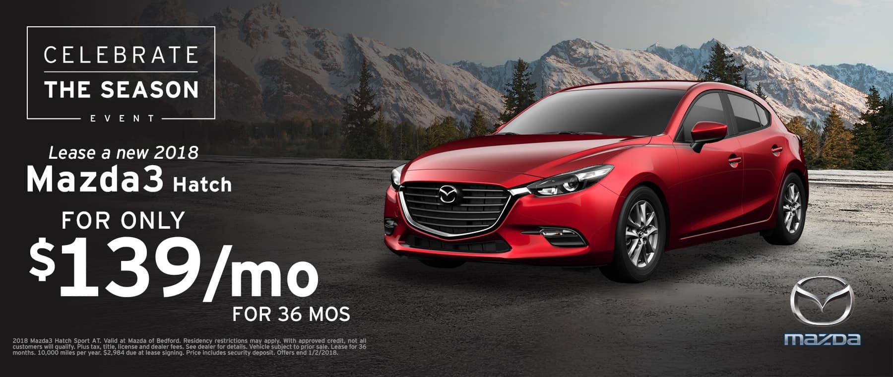 2018 Mazda3 Hatchback Lease Offer