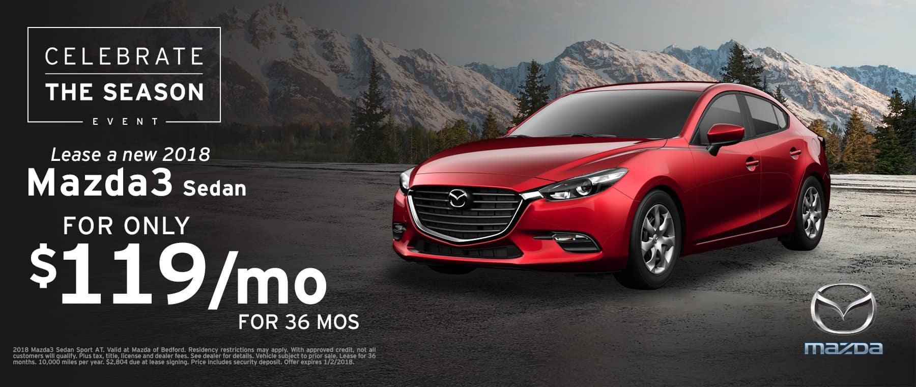 2018 Mazda3 Lease Offer