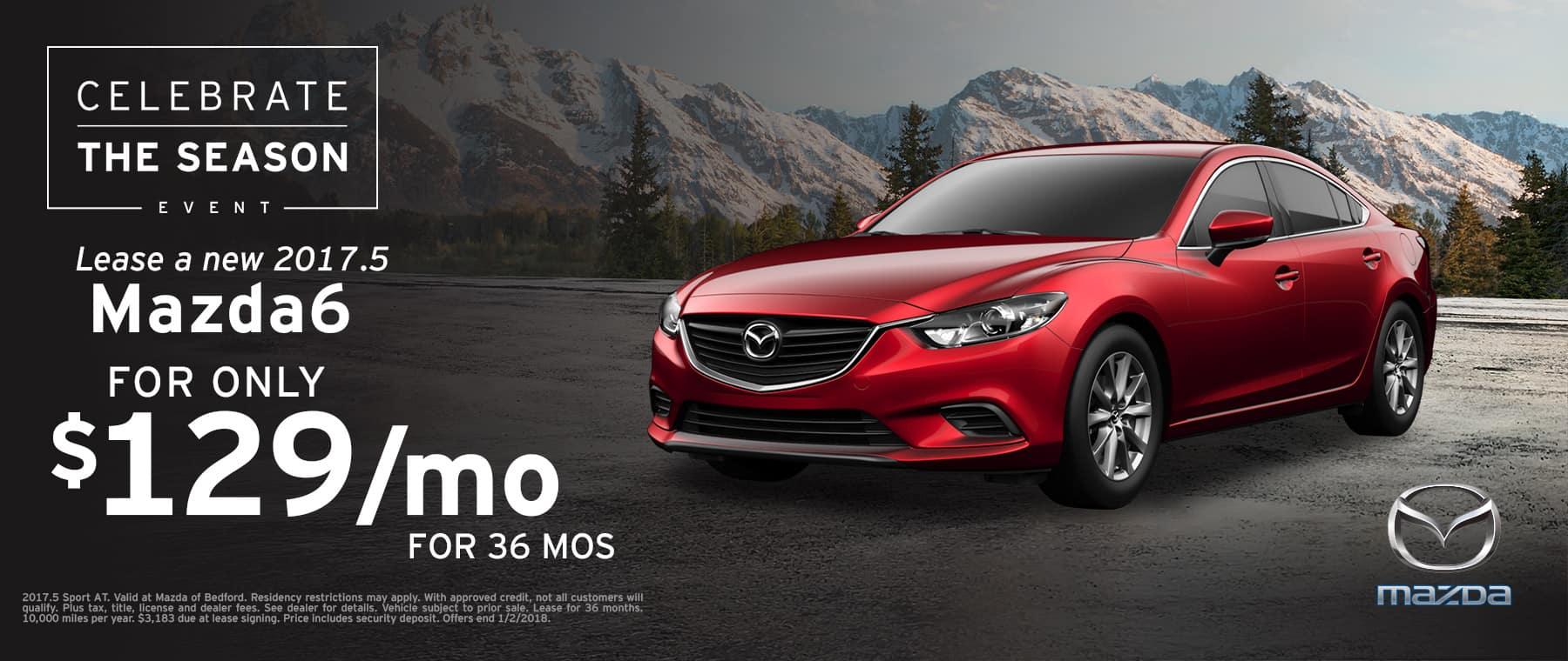2017.5 Mazda6 Lease Offer