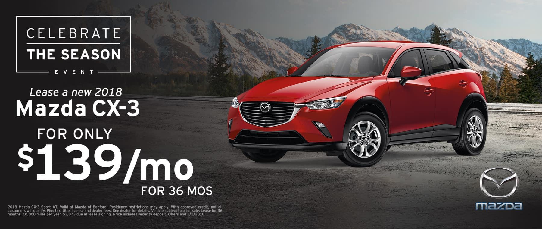 2018 Mazda CX-3 Lease Offer
