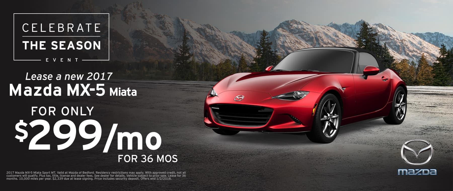 2017 Mazda MX-5 Miata Lease Offer