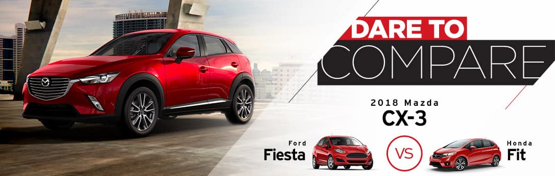 2018 Mazda CX-3 vs Ford Fiesta vs Honda Fit