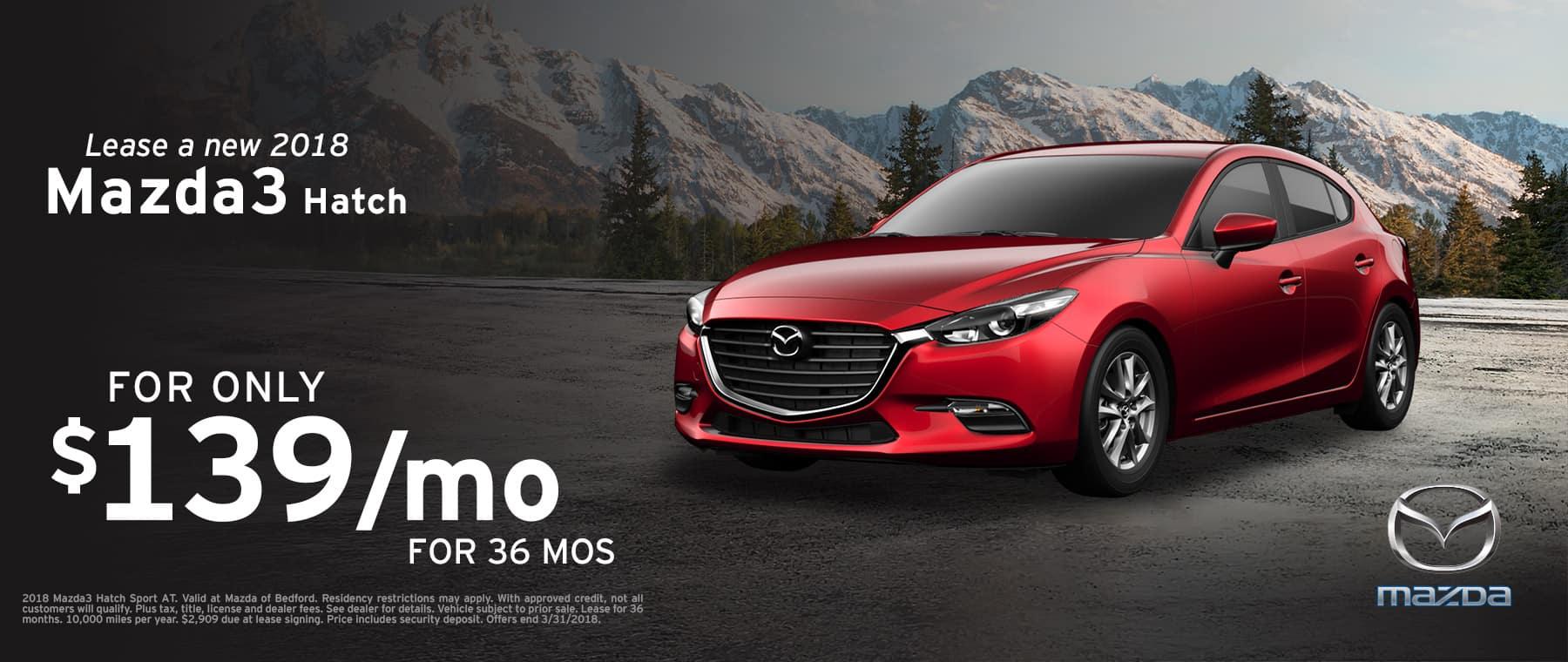 2018 Mazda3 Hatchback Special