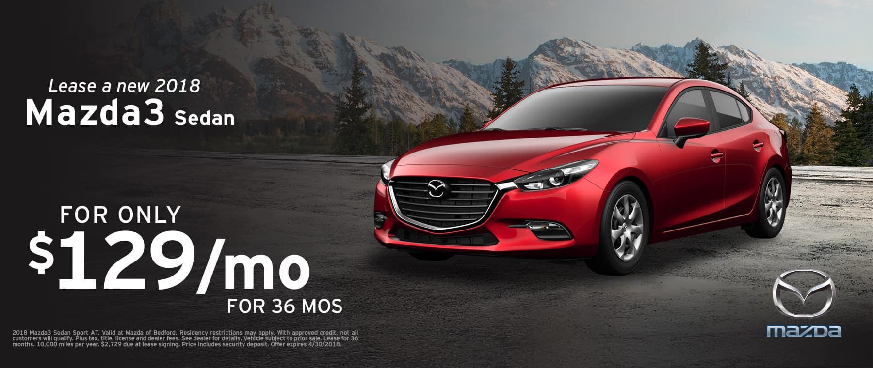 2018 Mazda3 Sedan April