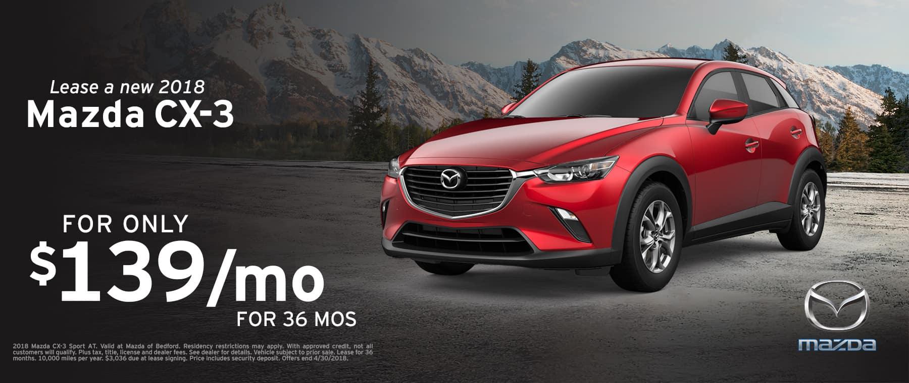2018 Mazda CX-3 April