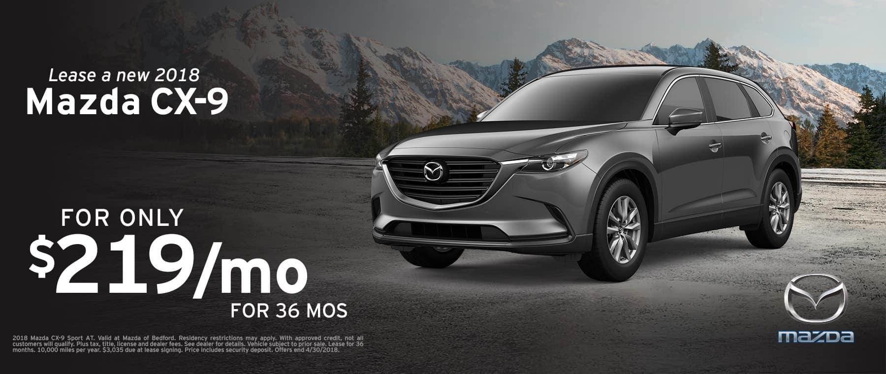 2018 Mazda CX-9 April