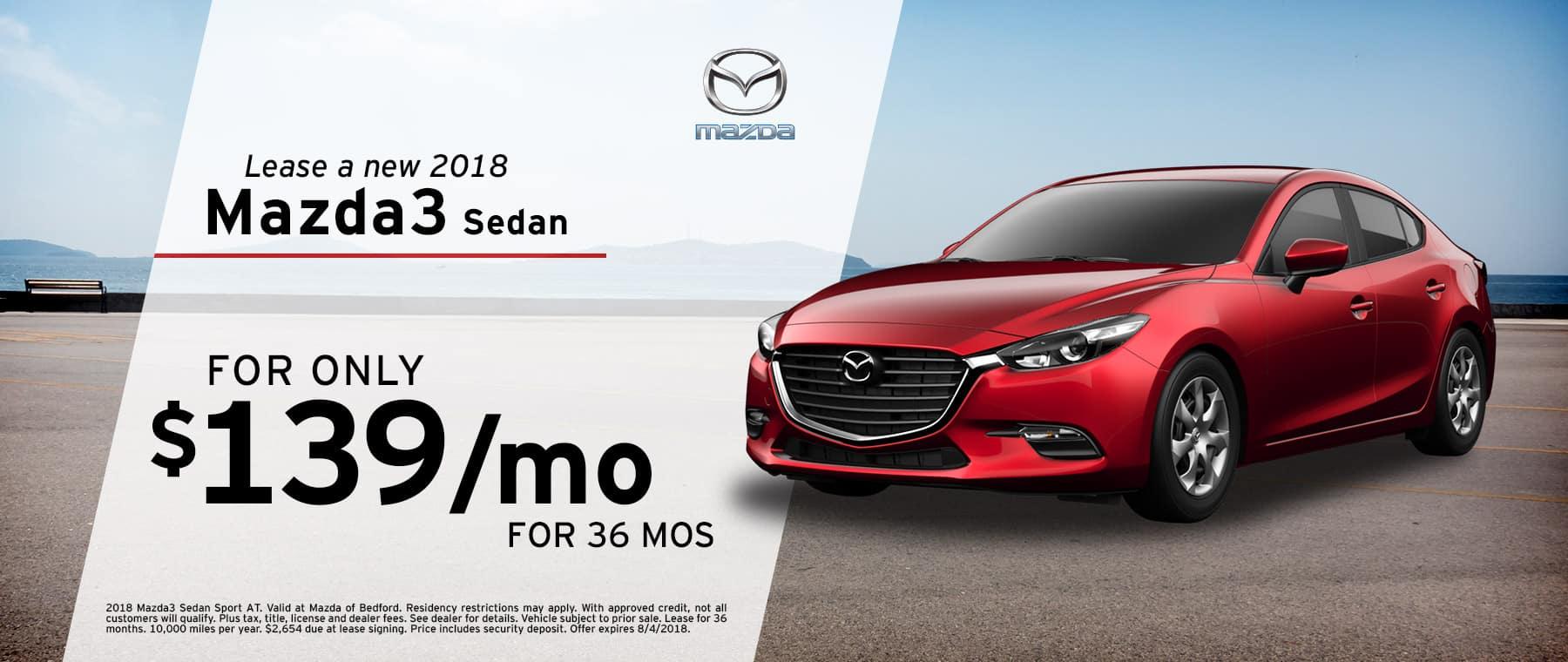 Mazda Bedford Specials | Mazda3 Sedan