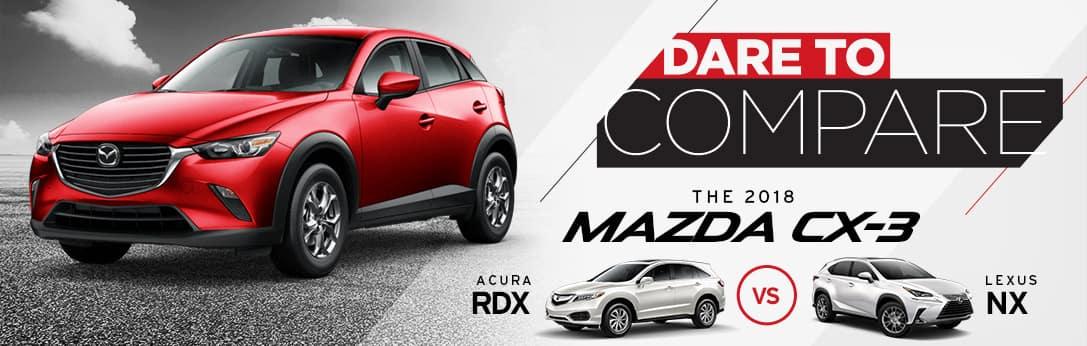 Mazda CX-3 vs Acura RDX vs Lexus NX