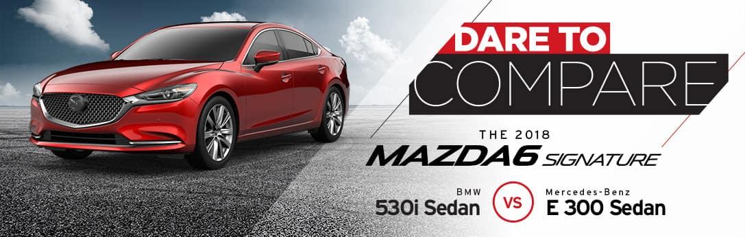 Mazda6 vs BMW 530i Sedan vs Mercedes-Benz E300 Sedan