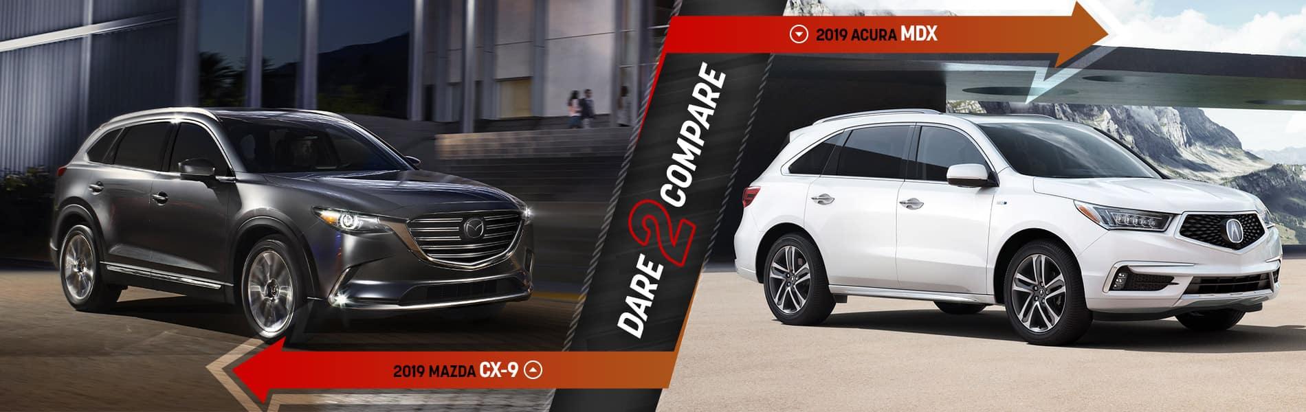 2019 Mazda CX-9 vs. 2019 Acura MDX | Cleveland, OH