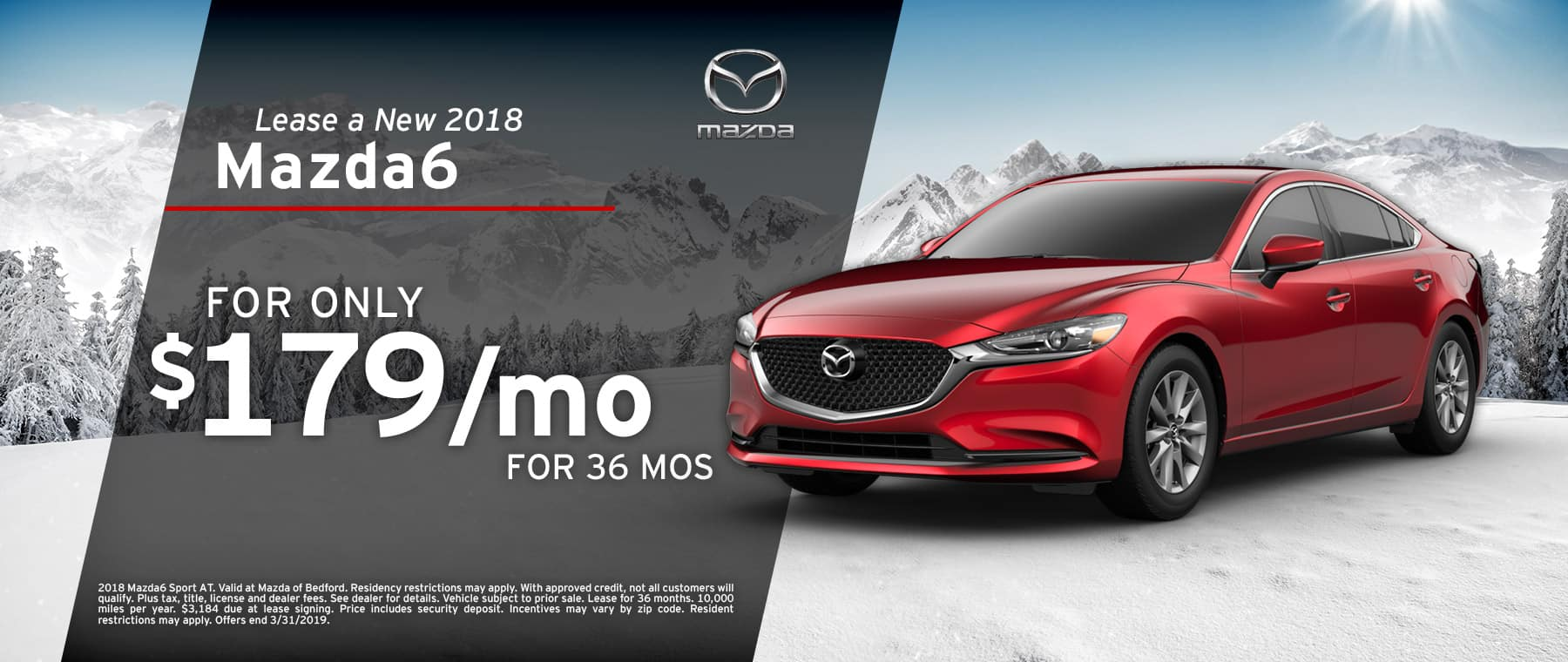 Save when you lease a 2018 Mazda6 at Mazda of Bedford in Ohio