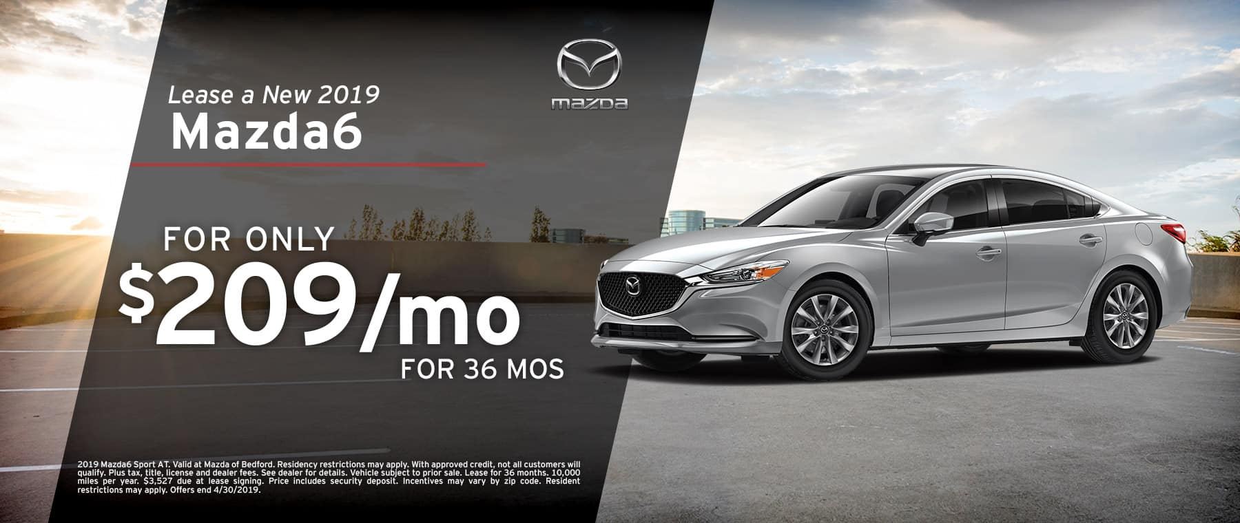 Save when you lease a 2019 Mazda6 at Mazda of Bedford