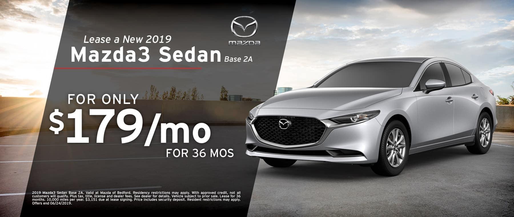 2019 Mazda3 Lease Offer
