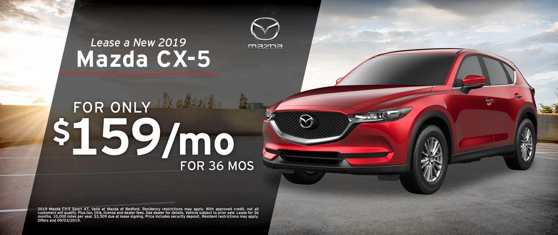 2019 Mazda CX-5 lease in Cleveland, OH