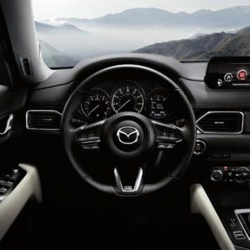 2018 mazda cx 5 dashboard and steering wheel