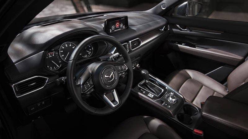 interior and dashboard shot of Mazda CX-5
