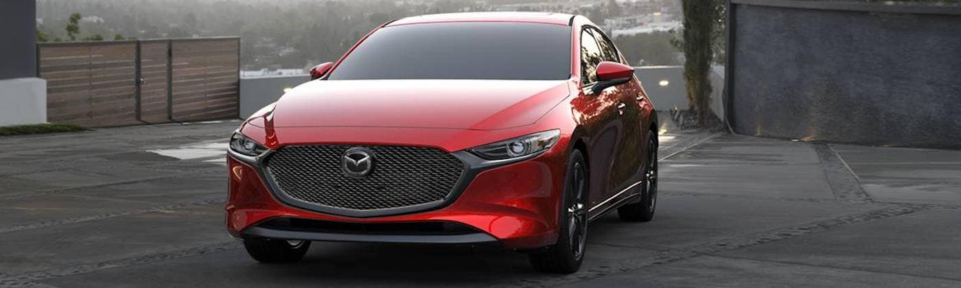 2019 mazda3 hatchback red
