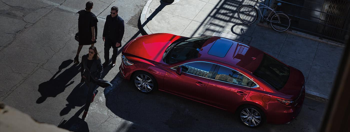 2019 mazda6 overhead view red