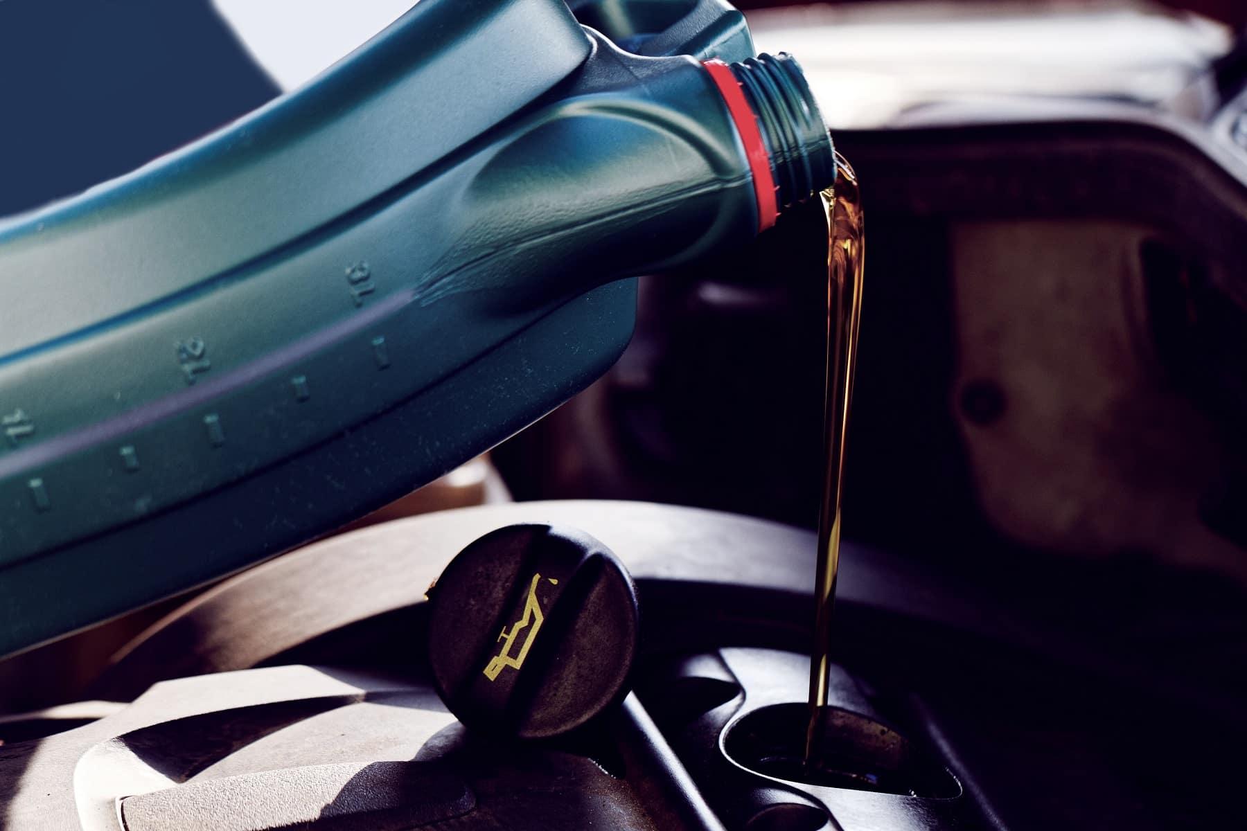 Oil Pour Into Car
