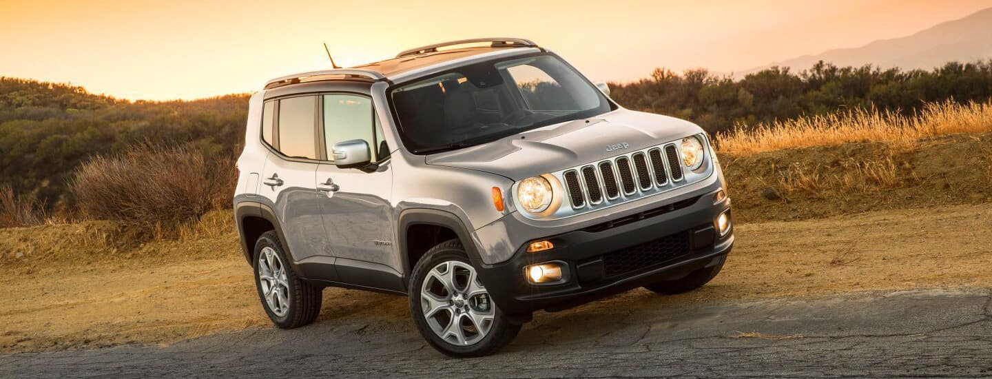 Jeep Renegade in the Sunset