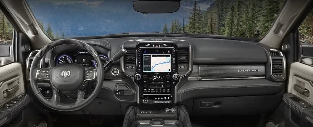 2019 Ram 2500 Black Interior Dashboard